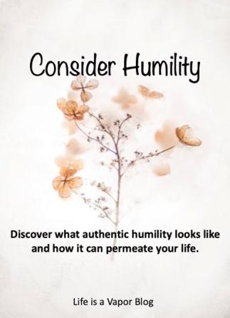 Consider humility